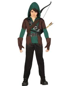 Disfraz de Arquero del bosque para niño