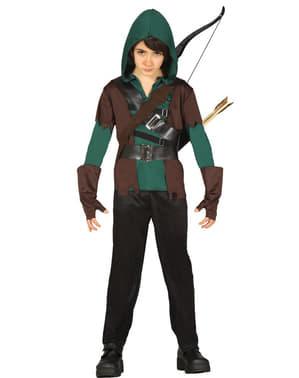 Costum Arcașul din pădure pentru băiat
