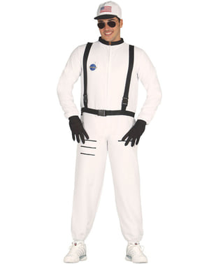 Adults White Astronaut Costume