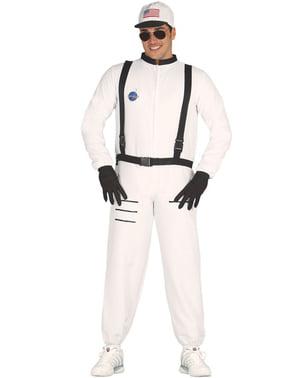 Astronaut Vit Maskeraddräkt Vuxen