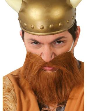 Barba castaña para adulto