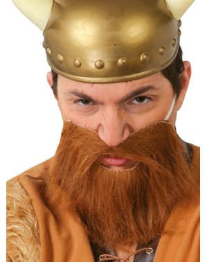 Barba castanha para adulto