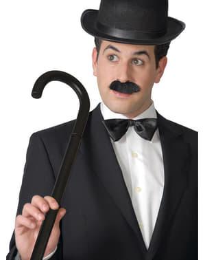 Zwarte Charlie Chaplin wandelstok