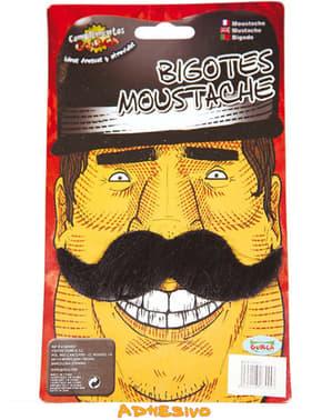 Fausse moustache noire longue