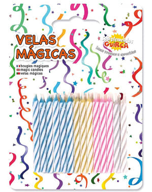 Pack de 24 Bougies Magiques de couleur pour Anniversaire