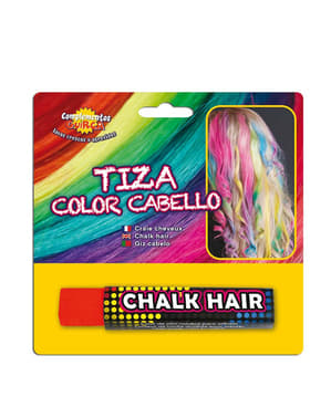 Hair chalk in color Red