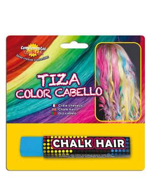 Kridt til at farve hår med himmelblå