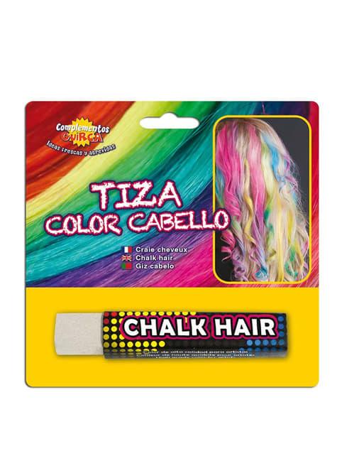 1 craie pour colorer les cheveux en Blanc