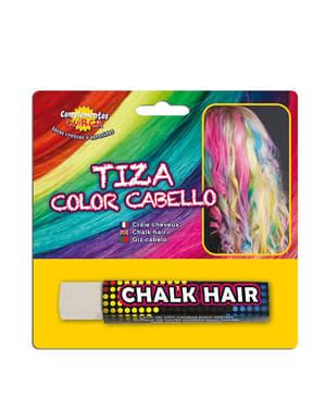 Kridt til at farve hår med hvid