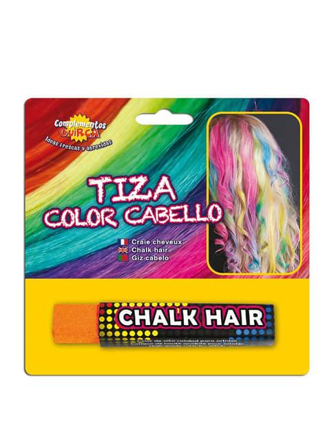 髪を着色するためのオレンジ色のチョーク