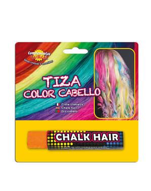 Giz para colorear o cabelo cor de laranja