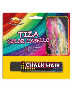 Kridt til at farve hår med sort