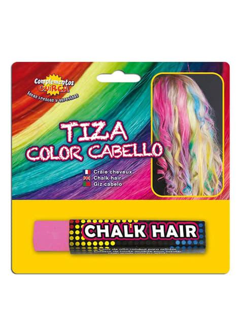 Kreda kolorująca włosy różowa