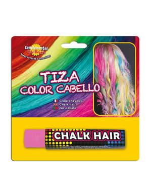 Giz para colorear o cabelo cor-de-rosa