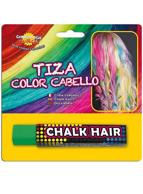 Tiza para colorear el pelo Verde