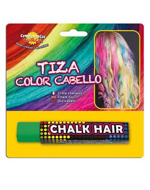 Zelena kreda za barvanje las