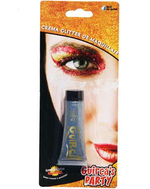 Tubo de Maquillaje Glitter Plata 20 cc.