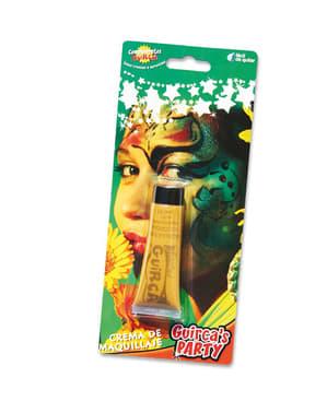 Geel glitter make-up tube 20 cc.