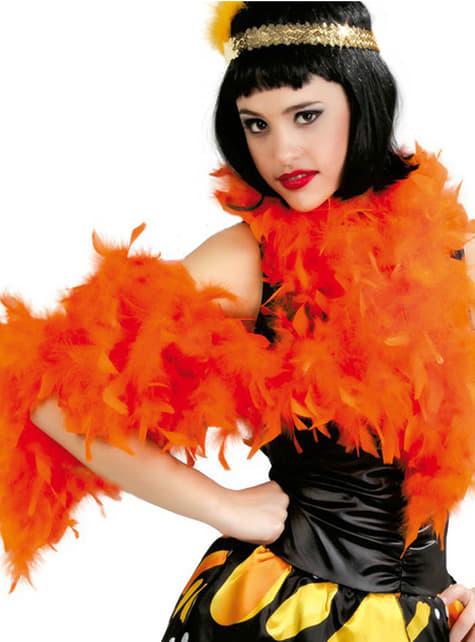 Boa à plumes orange
