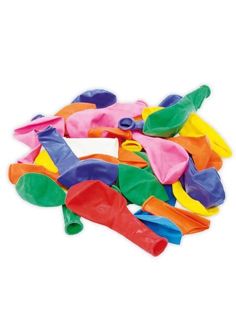 Set met 100 rubber ballonnen