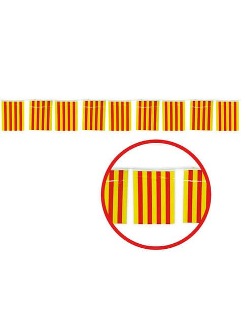 Guirlande 50 m. Grands drapeaux Catalans