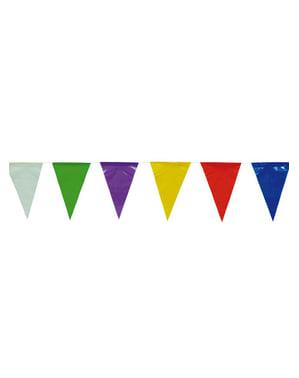 色付きの三角形の旗布