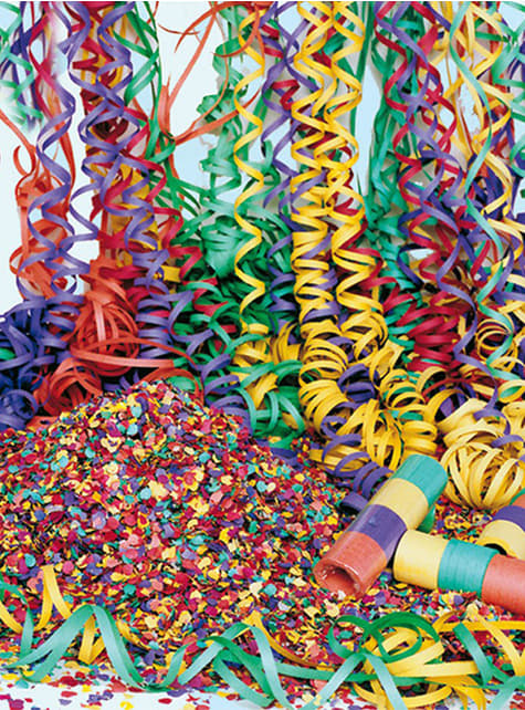 Sac de confettis multicolores