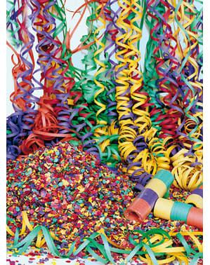 Zak gekleurde confetti