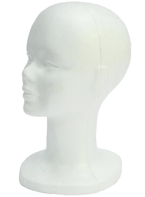 Tête de Porex pour Exposition de Perruques