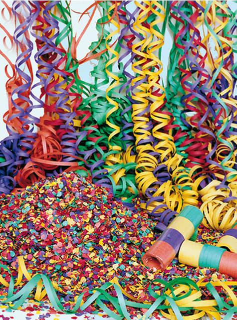 10 Party Luftschlangenrollen
