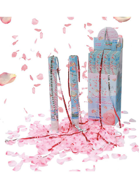 Cañón de Confeti Pétalos de Rosa 50 cm.