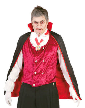 Peleryna wampirza z wysokim kołnierzem