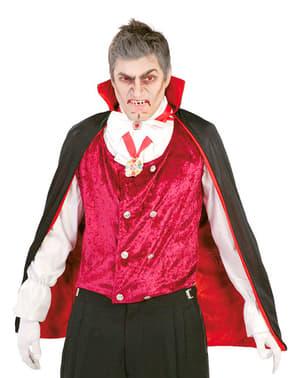 Vampier cape met hoge kraag