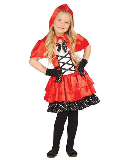 Girls Fierce Little Red Rider Costume