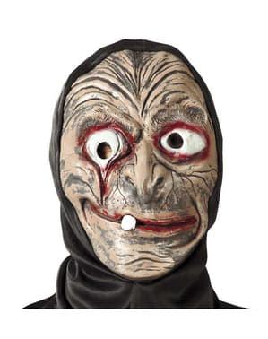 Masque de Sorcière avec Capuche