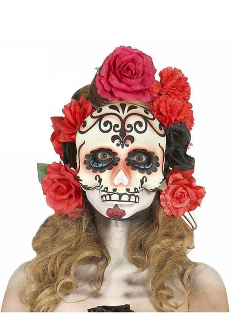 Máscara de Calavera Catrina Mexicana