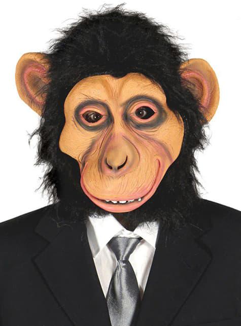 Chimpansemaske med pels