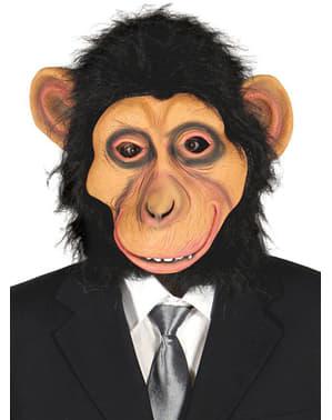Simpanssinaamio hiuksilla