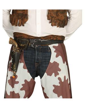 Braunes Pistolen-Halfter mit Pistole