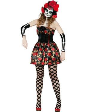 Dámsky kostým Deň zosnulých La Catrina