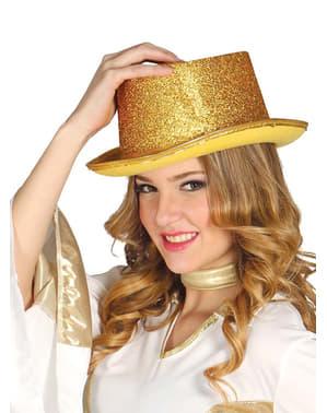 Glänzender Zylinderhut gold