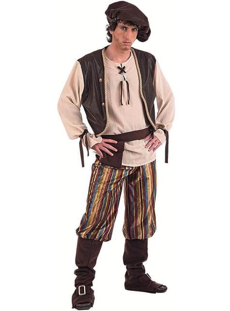 Мъжки костюм на средновековен мъж от таверна