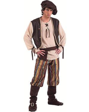 Keskiaikainen tavernamies -asu aikuisille