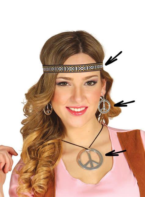 Sæt med hippietilbehør til kvinder