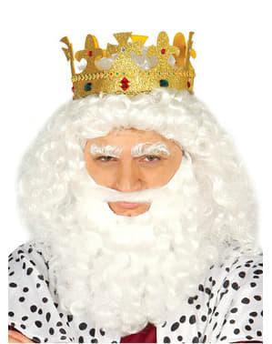 Coroa de Rei efeito Gelado para adulto