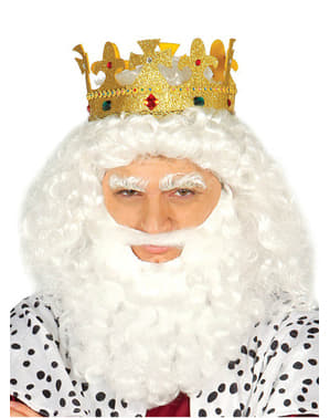 Koningskroon met glitters voor volwassenen