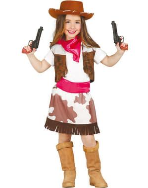 Rodeo Cowgirl Maskeraddräkt Barn