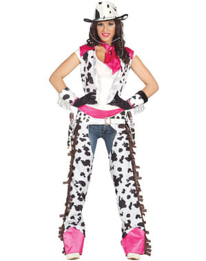 Fato de Cow Girl Rodeio para mulher