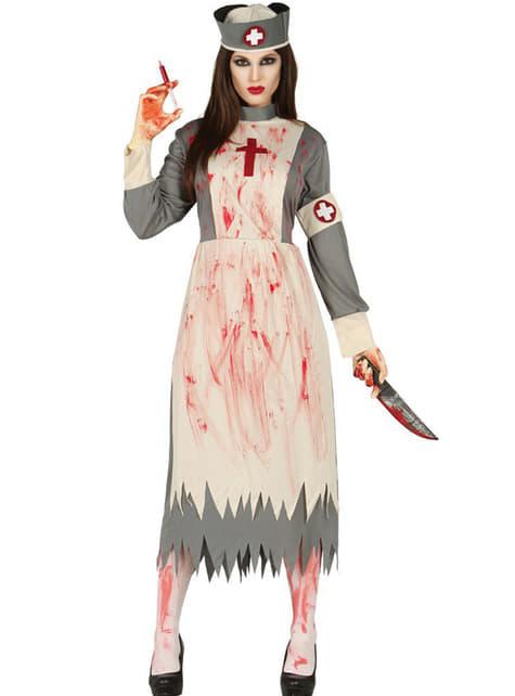 Disfraz de Enfermera Religiosa Zombie para mujer