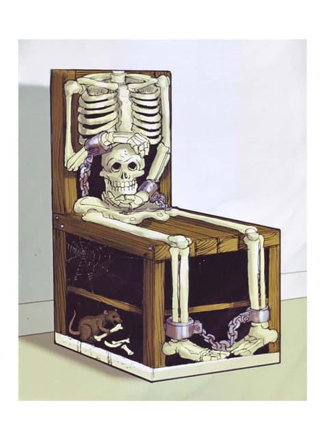 3D Skelett auf Stuhl Wanddekoration